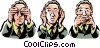 Vector Clip Art picture  of a hear no evil