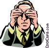 see no evil Vector Clip Art graphic