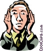 Vector Clipart image  of a hear no evil