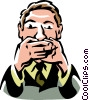Speak no evil Vector Clip Art picture