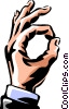 Vector Clip Art picture  of a hand making the