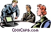 businessman in a meeting Vector Clipart picture