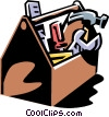 Vector Clipart graphic  of a toolbox