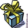 Vector Clip Art graphic  of a present/gift
