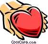 Vector Clipart graphic  of a person with a heart in their