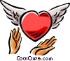 heart with wings Vector Clipart image