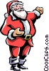Vector Clip Art picture  of a Santa