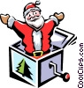 Santa jack-in-the-box Vector Clip Art picture