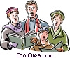 Christmas carolers Vector Clip Art picture