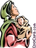 Virgin Mary with the Christ Child Vector Clip Art image
