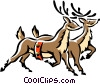 reindeer Vector Clip Art graphic