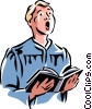 choir boy Vector Clipart picture