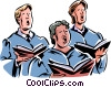 Vector Clipart graphic  of a church choir