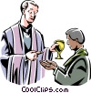 Vector Clipart graphic  of a Christian Mass/Communion