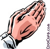 Vector Clip Art image  of a praying hands