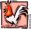 Vector Clipart graphic  of a rooster