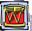 Vector Clipart illustration  of a drum