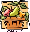 fruit basket Vector Clipart illustration