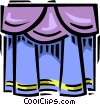 theatre curtains Vector Clip Art image