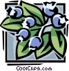 Vector Clipart graphic  of a blueberries