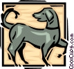 playful dog Vector Clip Art graphic