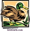 Vector Clipart picture  of a duck