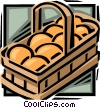 Basket of oranges Vector Clipart illustration