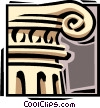 Vector Clip Art graphic  of an Ancient column