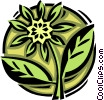 Vector Clipart picture  of a flower