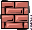 Vector Clipart illustration  of a brick wall