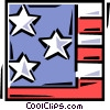 American flag Vector Clipart graphic
