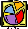 Vector Clipart illustration  of a pie chart