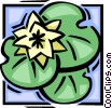 lilly pad Vector Clip Art picture