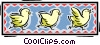 Vector Clip Art picture  of a baby chicks