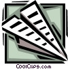 Vector Clip Art picture  of a paper airplane