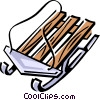 Vector Clip Art image  of a sled