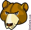 Vector Clipart graphic  of a Brown bear