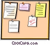 bulletin board Vector Clip Art picture