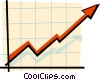 Vector Clip Art picture  of a growth arrow