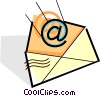 @ symbol going into an envelope Vector Clipart image