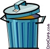 Vector Clipart graphic  of a trash can