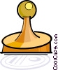 Vector Clip Art graphic  of a rubber stamp