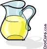 Vector Clipart illustration  of a jug of lemonade
