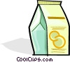 Vector Clip Art image  of a carton of juice