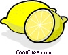 Vector Clipart picture  of a Sliced lemons