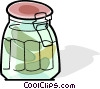 Vector Clipart illustration  of a jar of pickles