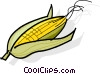 Vector Clipart graphic  of a cobs of corn