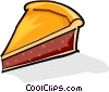 slice of pie Vector Clipart illustration