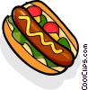 Vector Clipart picture  of a Hot dog