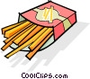 French fries Vector Clip Art image